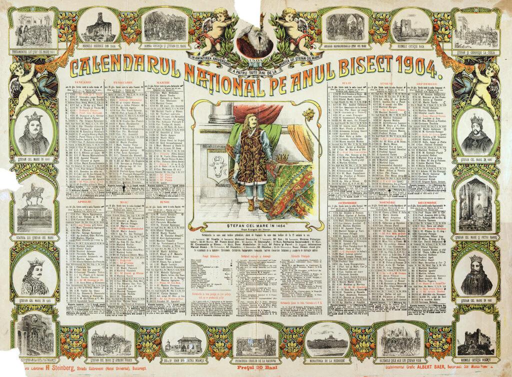 Calendar bisericesc din 1904