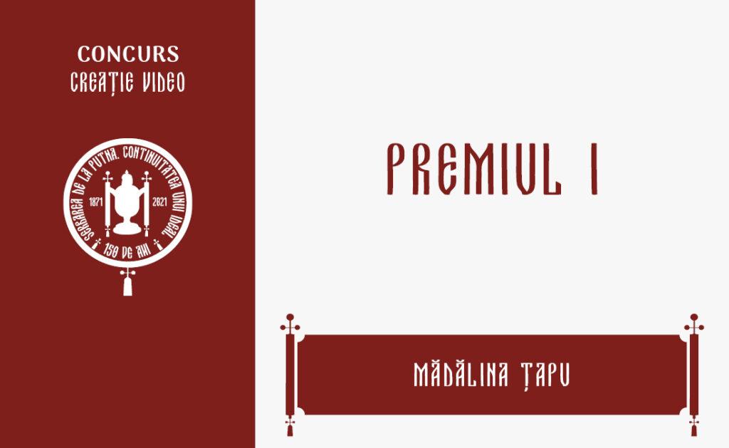 Mădălina Țapu, Premiul I, Concursul de creație video