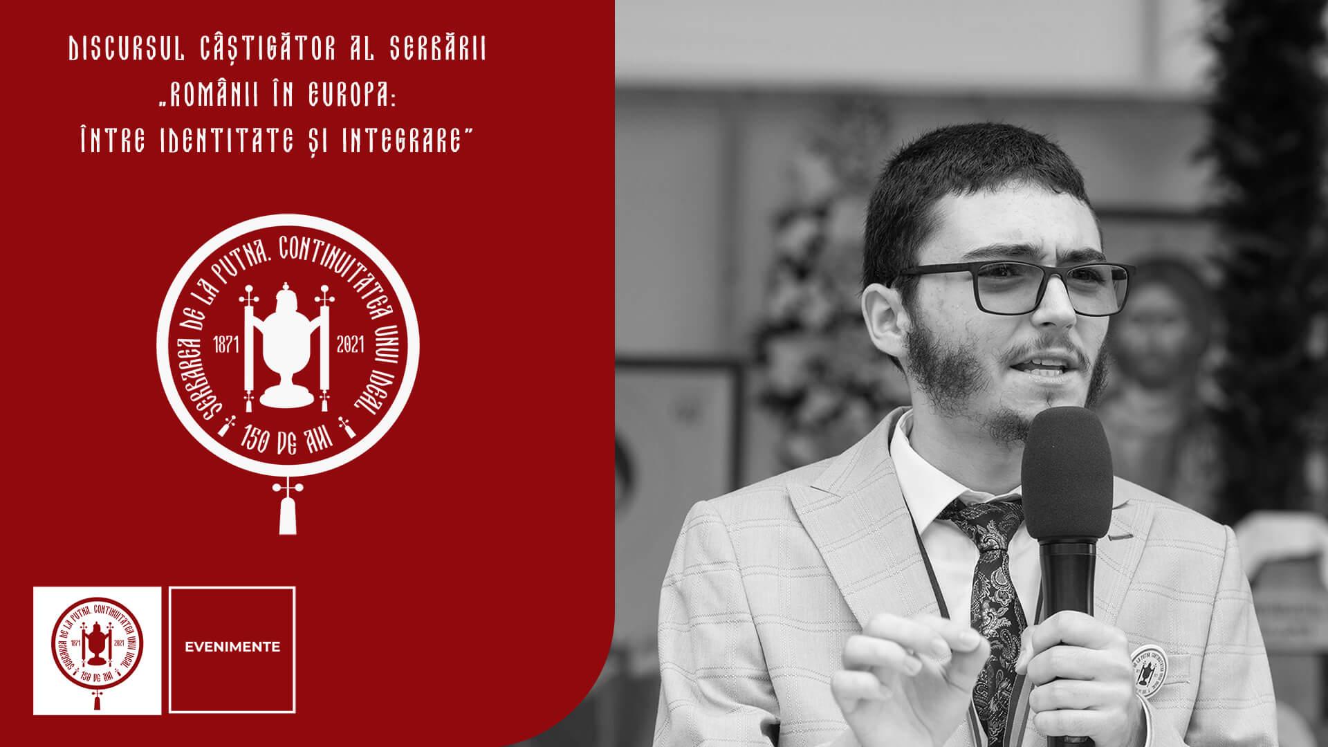 """Cosmin Țugui, Discursul câștigător al Serbării: """"Românii în Europa: între identitate și integrare"""""""