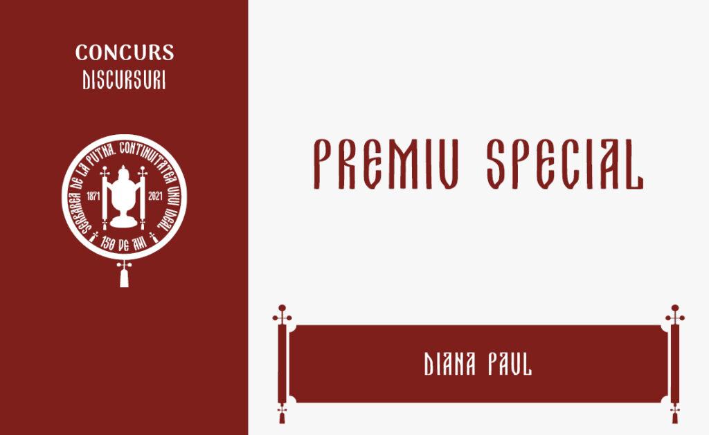 Diana Paul, Premiu special, Concursul de discursuri